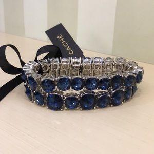 NWT Cache blue sparkly bracelet